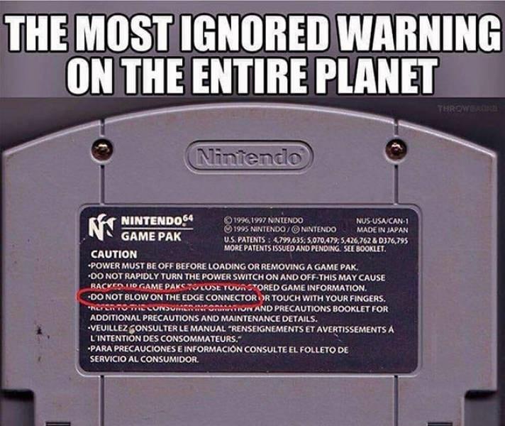 nostalgic pic of a nintendo 64 game cartridge