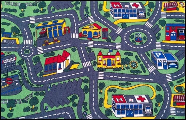 nostalgic pic of a carpet city rug