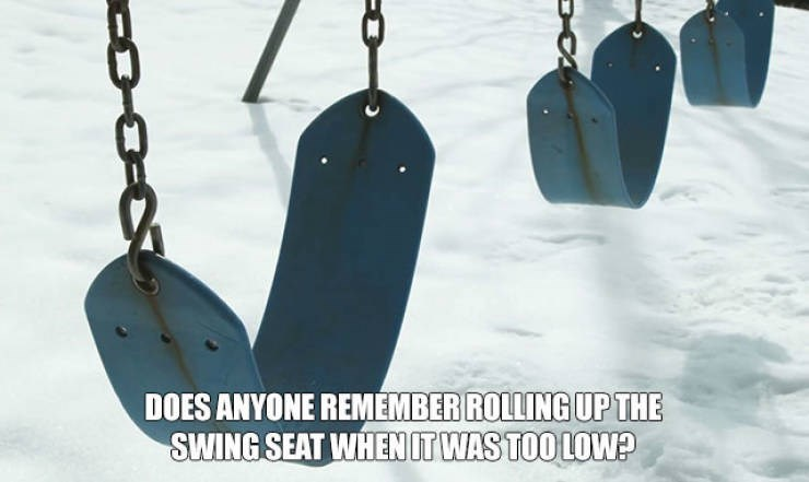 nostalgic meme about playing with swings