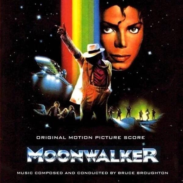 nostalgic poster of Michael Jackson's moonwalker