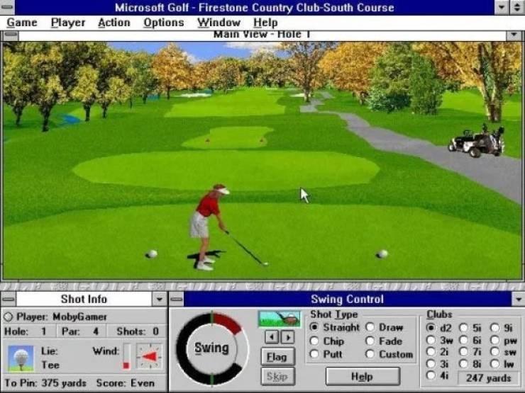 nostalgic pic of the Microsoft golf game