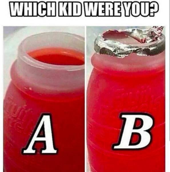 nostalgic meme about taking the top of the little hug juice bottle