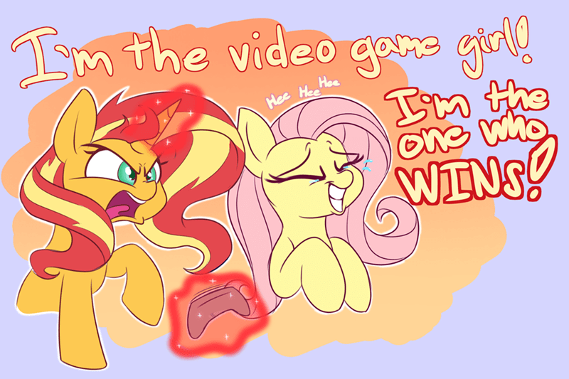 game stream game grumps ponify sunset shimmer fluttershy heir of rick - 9274506752