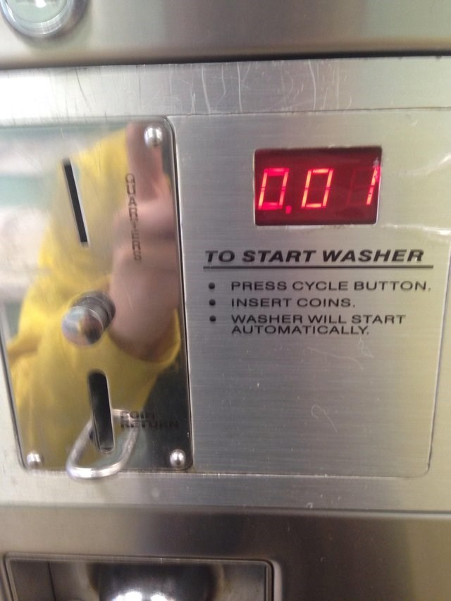 Machine - TO START WASHER PRESS CYCLE BUTTON INSERT COINS WASHER WILL START AUTOMATICALLY CARTEC