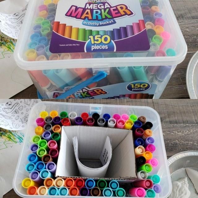 Product - Arts MEGA MARKER 9ctivity bucket 150 pieces Ye dC y 150 pieces ARKER