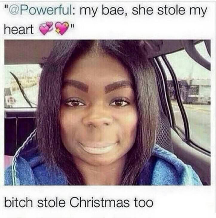 funny meme about a girl who looks like the grinch