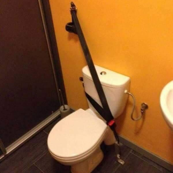 cursed_image - Toilet with seatbelt