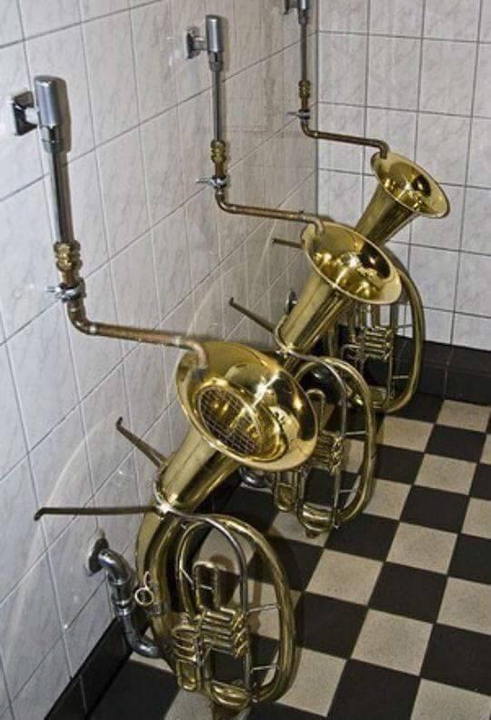 cursed_image - Brass instrument toilet