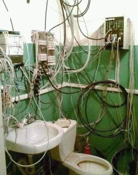 cursed_image - toilet near wiring