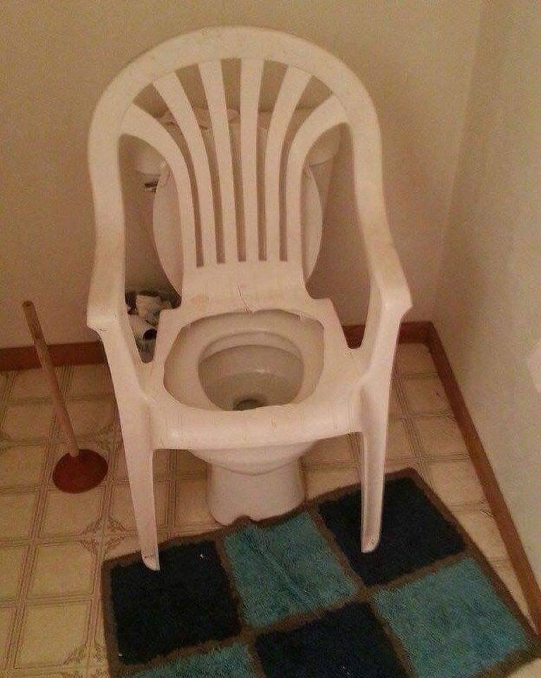 cursed_image-toilet with seat made out of a chair