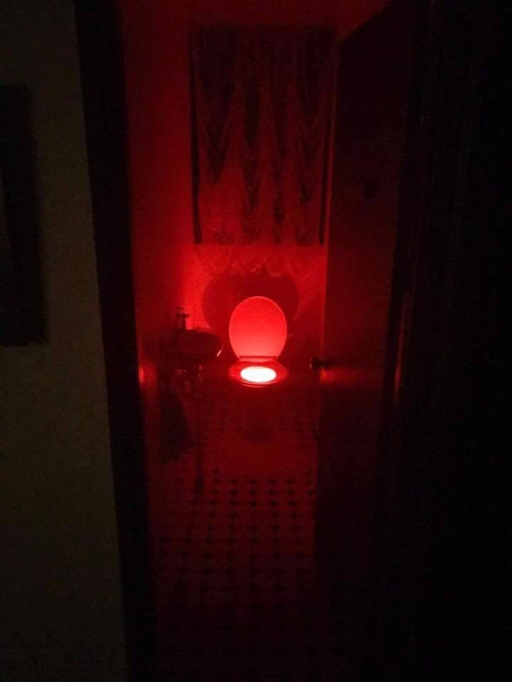 cursed_image - Red lit toilet