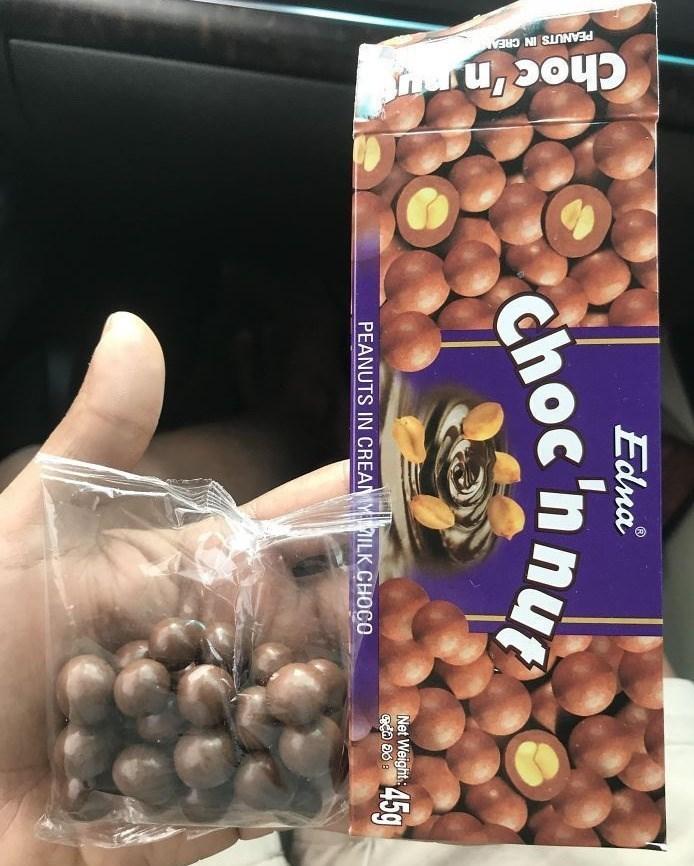Food - PEANUTS IN CREA Edna choc'nnu 45g Net Weight PEANUTS IN CREAMY ILK CHOCO
