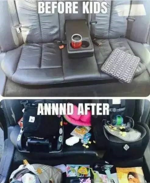 Car seat - BEFORE KIDS ANNND AFTER