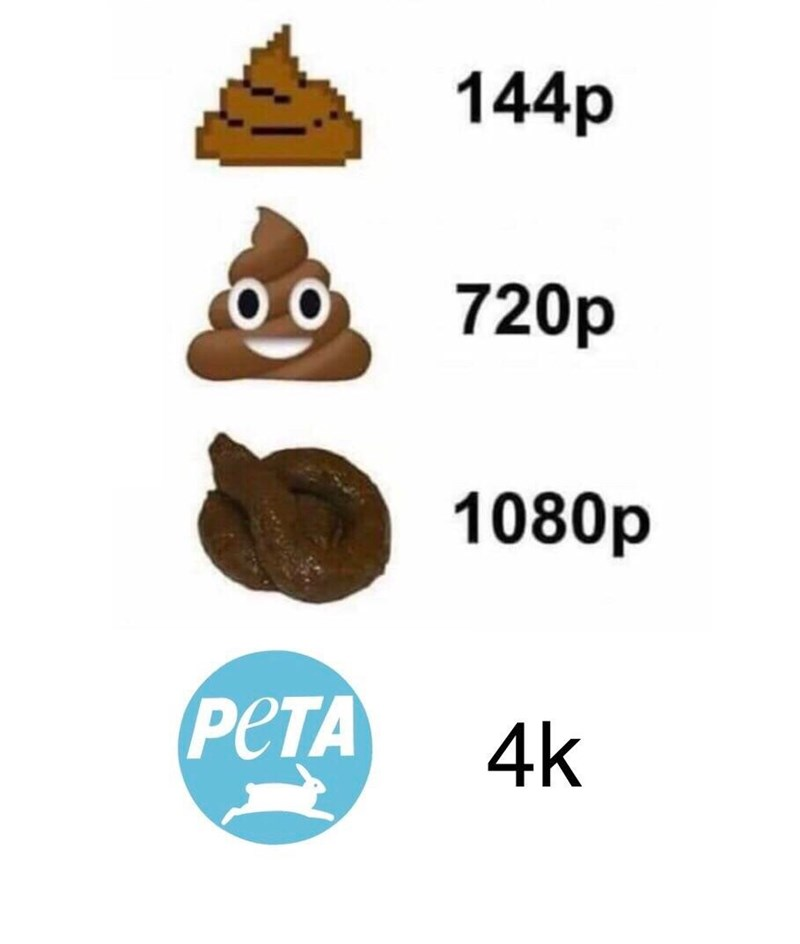 meme anti peta - Brown - 144p о, 720p 1080p РЕТА 4k