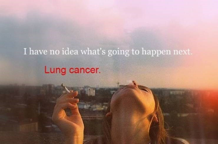 Sky - I have no idea what's going to happen next. Lung cancer.