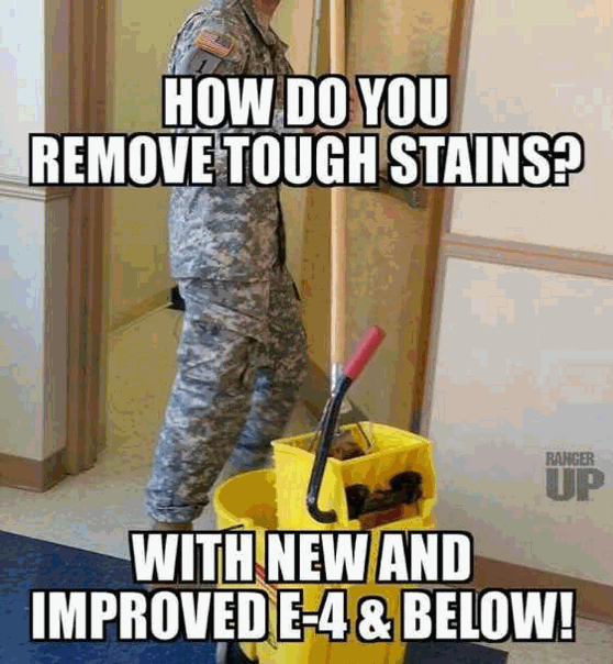 Photo caption - HOW DO YOU REMOVE TOUGH STAINS? RANGER UP WITH NEW AND IMPROVEDE-4& BELOW!