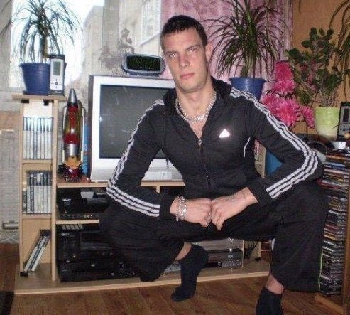 Fashion russian man tracksuit