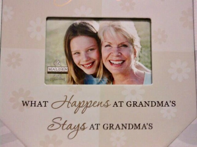 Picture frame - MALDEN Happens Strye WHAT AT GRANDMA'S AT GRANDMA'S