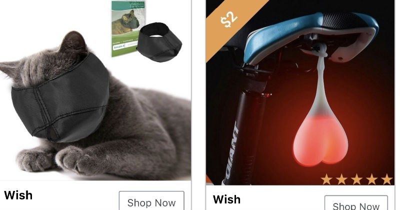 Strange products that wish.com advertises.