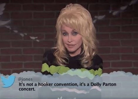 Text - @jones It's not a hooker convention, it's a Dolly Parton concert.