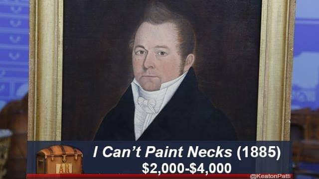 Portrait - I Can't Paint Necks (1885) $2,000-$4,000 @KeatonPatti PPE