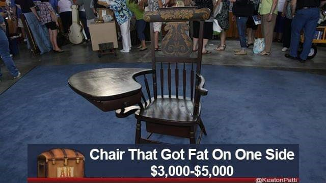 Furniture - Chair That Got Fat On One Side $3,000-$5,000 AR @KeatonPatt