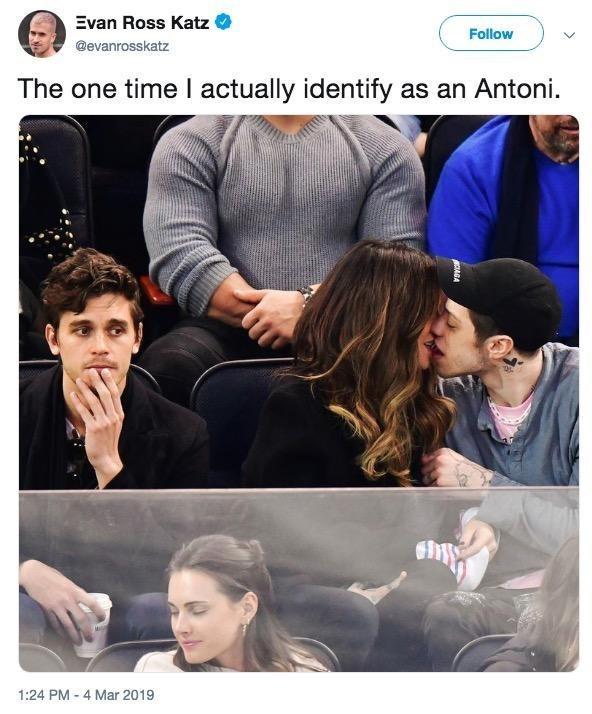 Product - Evan Ross Katz Follow @evanrosskatz The one time I actually identify as an Antoni. 1:24 PM 4 Mar 2019 AGA