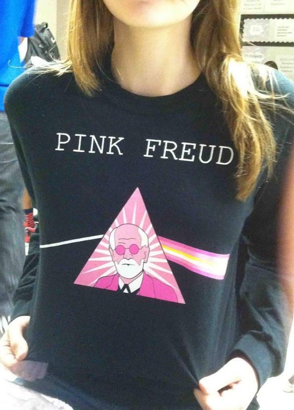 T-shirt - PINK FREUD