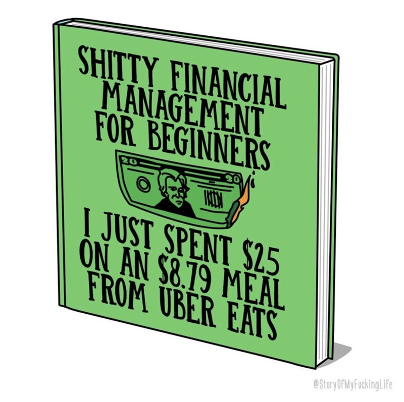 Funny comic about uber eats.