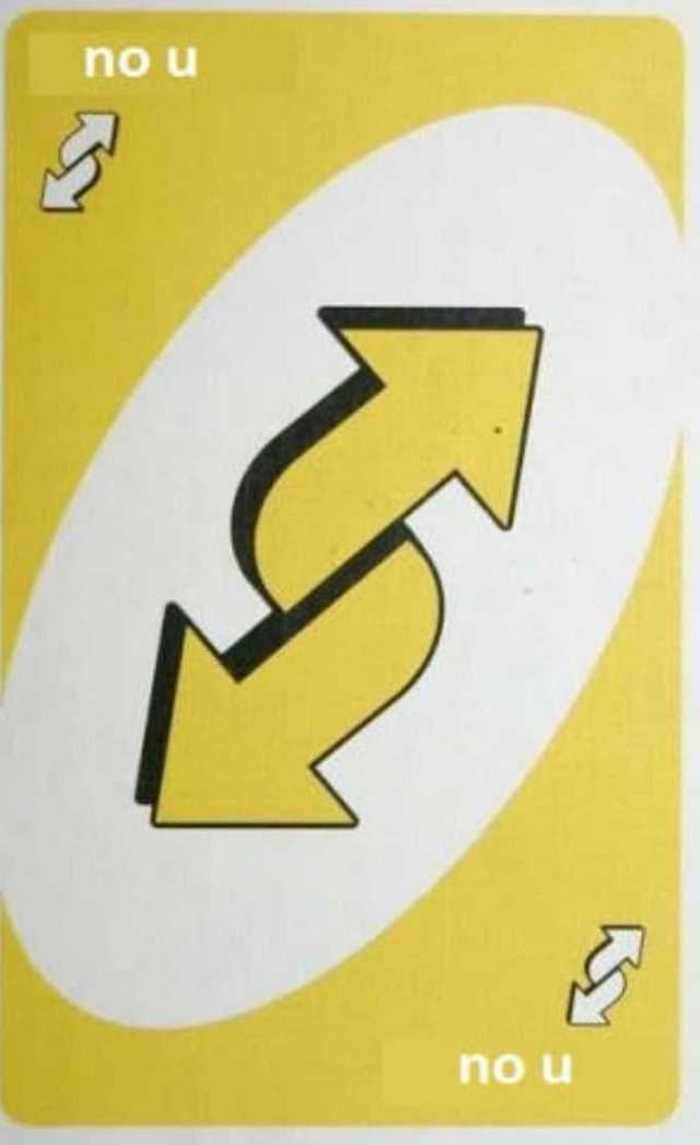 Yellow - no u no u