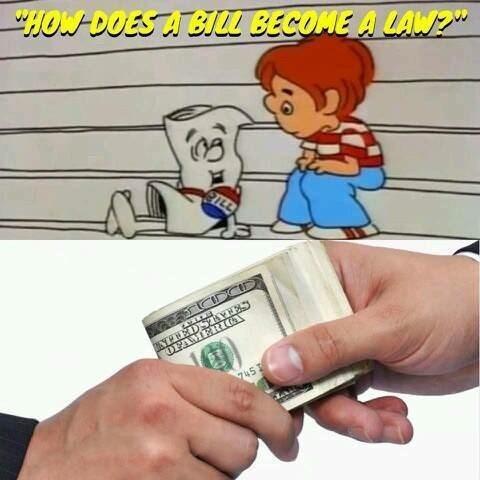 "Cartoon - HOWDOESA BJL BECOME A LAW"" ILL TPWEDSTYNE OFAMERICV 745 1"