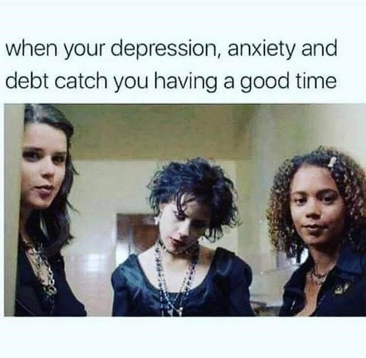 Hair - when your depression, anxiety and debt catch you having a good time