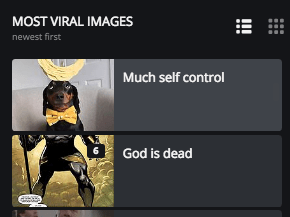 Fictional character - MOST VIRAL IMAGES E newest first Much self control 6 God is dead