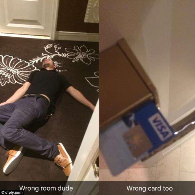 Floor - Wrong room dude O diply.com Wrong card too VISA