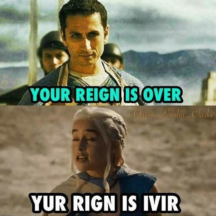 Movie - YOUR REIGN IS OVER QueenEnadia Clarke YUR RIGN IS IVIR