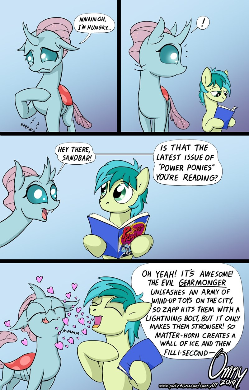 omny87 ocellus sandbar comic power ponies changelings - 9278901760