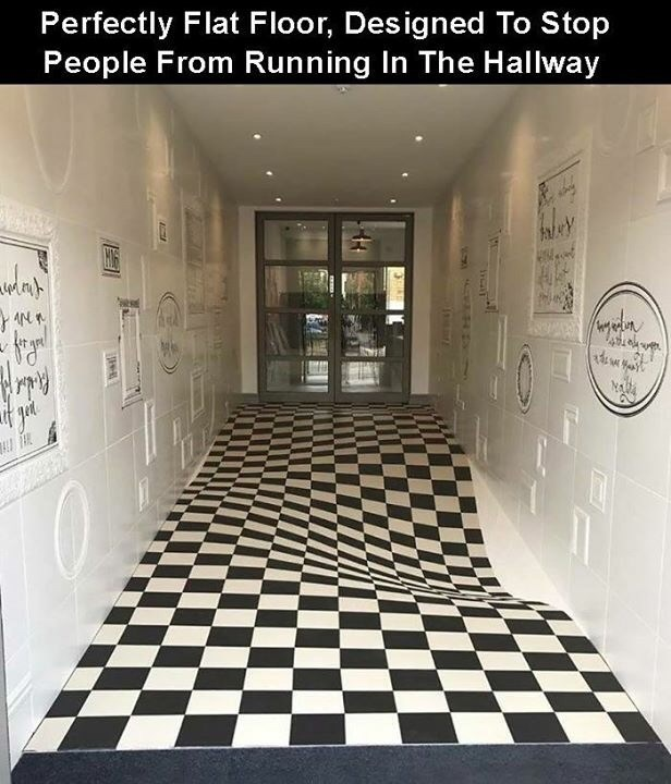 creative twist - Floor - Perfectly Flat Floor, Designed To Stop People From Running In The Hallway 44 ry SYCAT