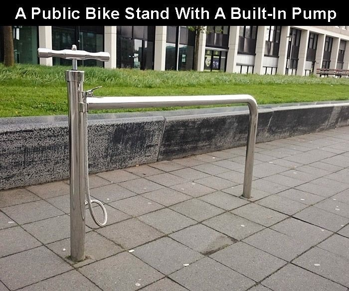 creative twist - Public space - A Public Bike Stand With A Built-In Pump