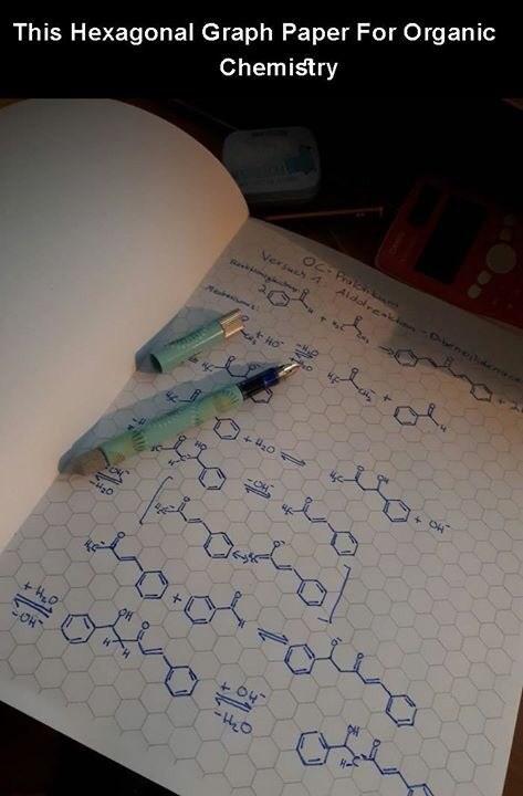 creative twist - Text - This Hexagonal Graph Paper For Organic Chemistry OC-Pro Aidolreaki ene n Versuch 4 HO OH -O4