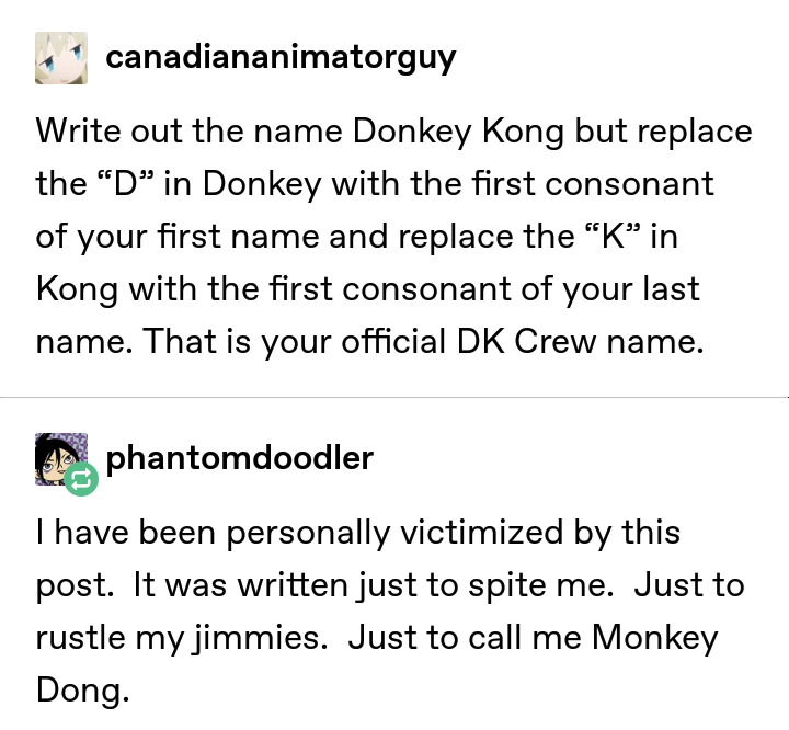 meme on how to create your official DK crew name