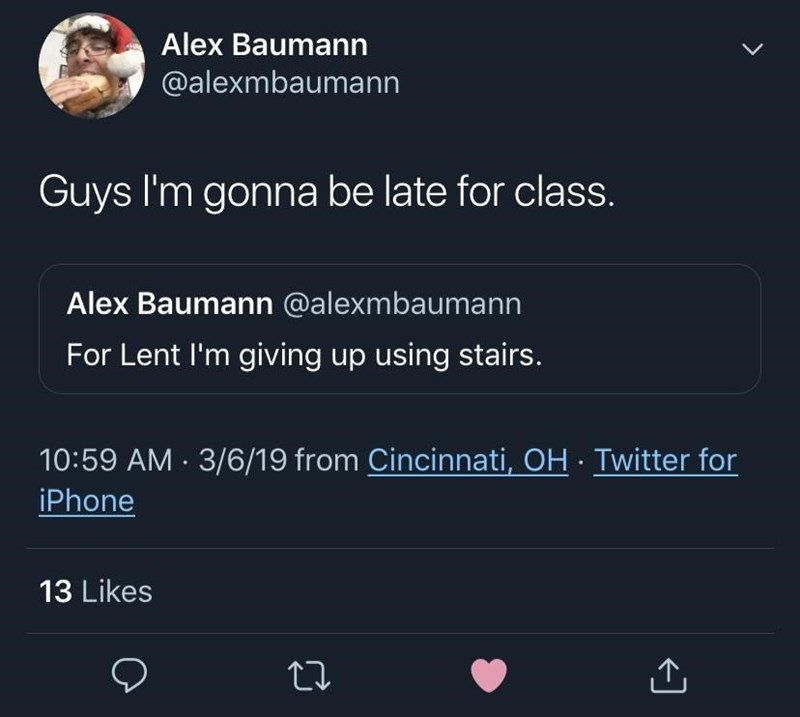 meme about being late for class