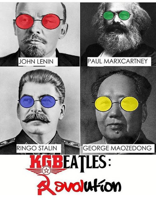 Eyewear - JOHN LENIN PAUL MARXCARTNEY RINGO STALIN GEORGE MAOZEDONG KGBEATLES: avoluton