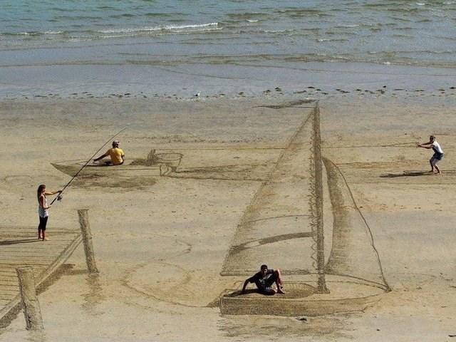 weird perspective pics - Sand