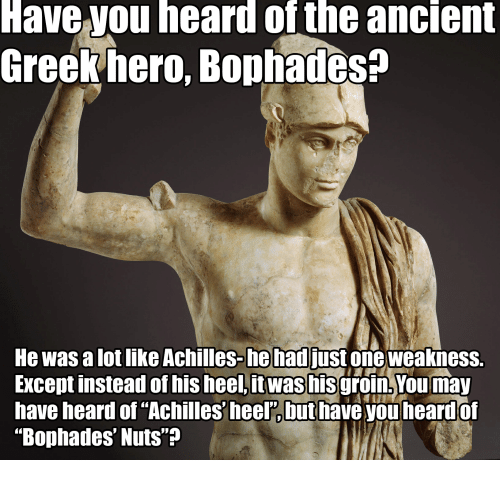 meme about an ancient greek hero named Bophades