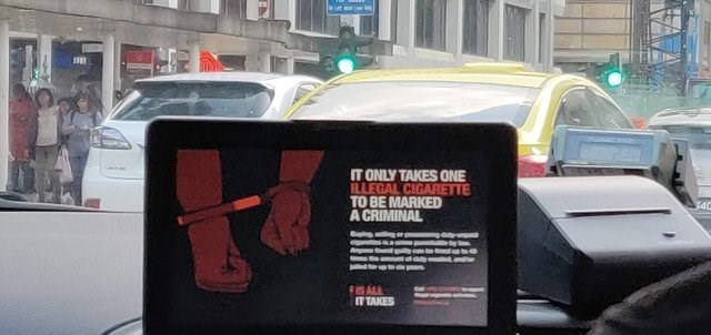 Vehicle - IT ONLY TAKES ONE ILLEGAL CIGARETTE TO BE MARKED A CRIMINAL 540 ALL IT TAKES A AL