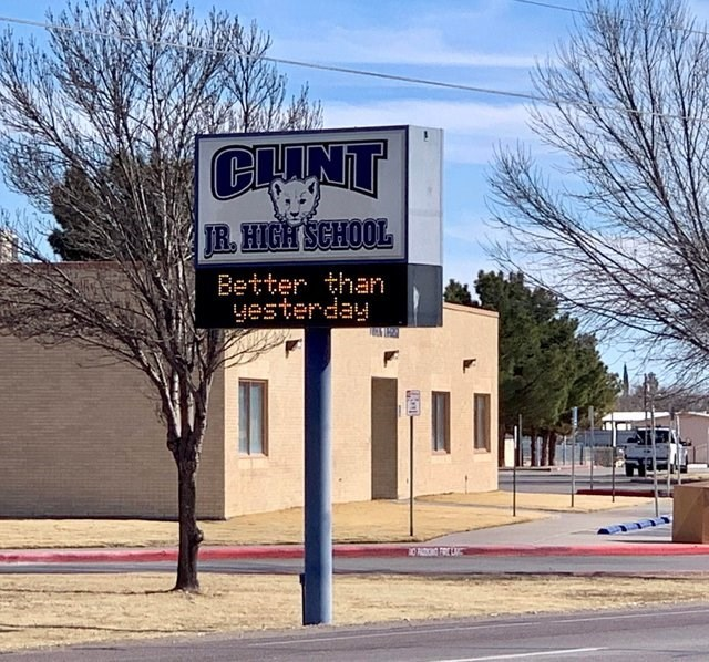 facepalm - Signage - CUNT JR. HIGH SCHOOL Better than yesterday