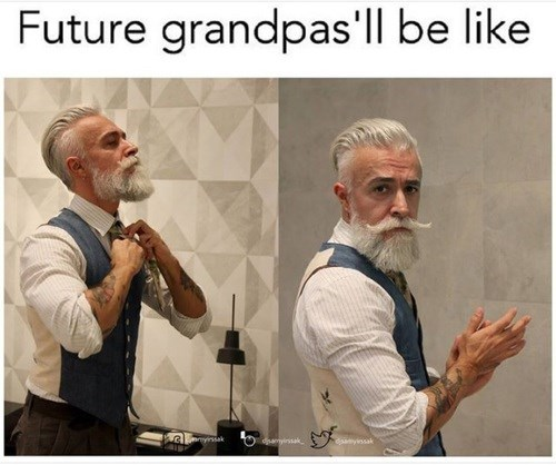 Photo caption - Future grandpas'll be like yissak ayissak dsayinsak