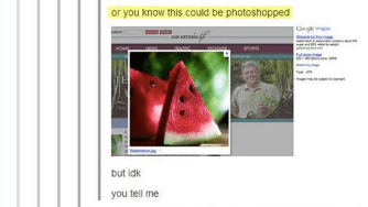 Watermelon - or you know this could be photoshopped but idk you tell me