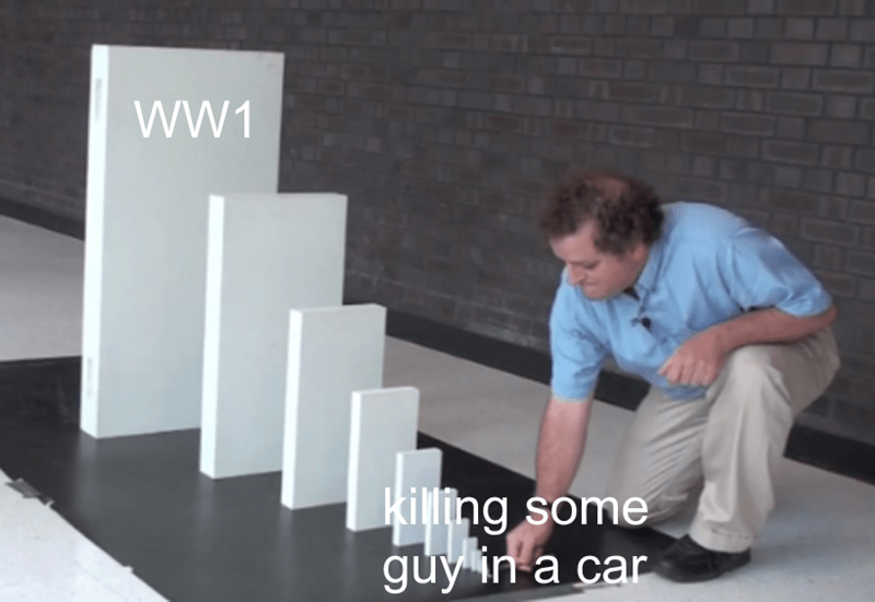 Furniture - wW1 killing some guy in a car