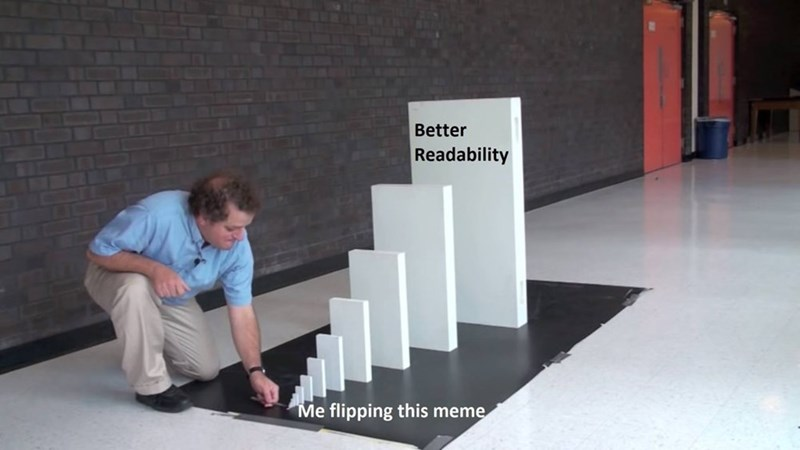 Table - Better Readability Me flipping this meme